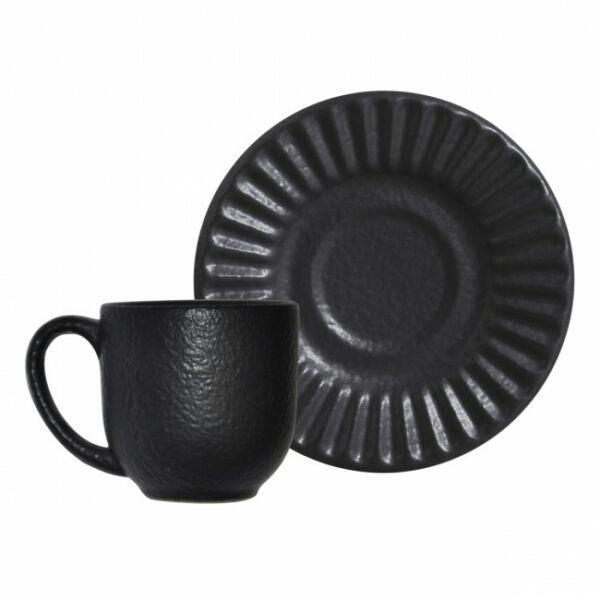 Xícara de café Azeviche Preto Matte