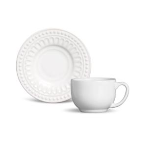 Xícara de Chá Pérgamo Branco